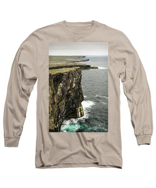 Long Sleeve T-Shirt featuring the photograph Inishmore Cliffs And Karst Landscape From Dun Aengus by RicardMN Photography