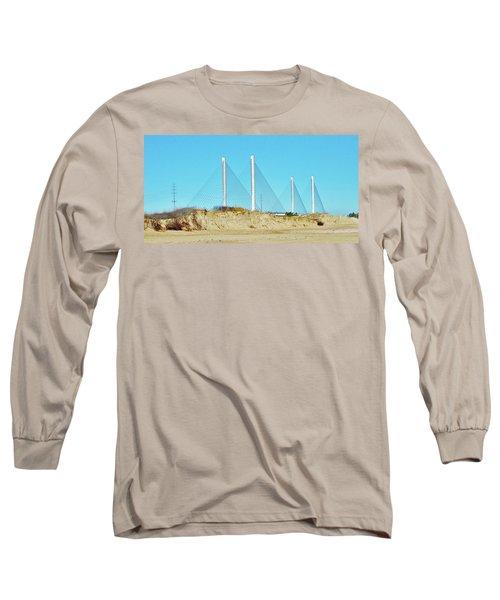 Inlet Bridge Beach View Long Sleeve T-Shirt by William Bartholomew