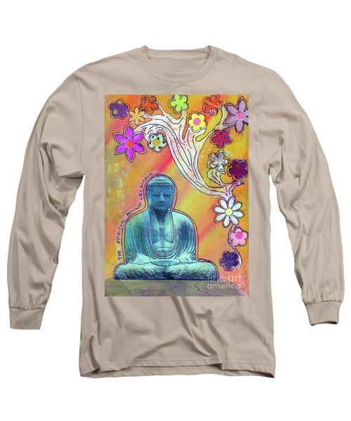 Long Sleeve T-Shirt featuring the mixed media Inner Bliss by Desiree Paquette