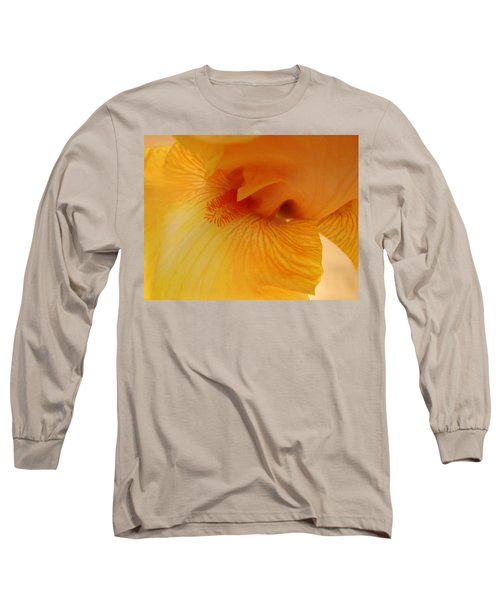 Inner Iris, Yellow, Close-up Long Sleeve T-Shirt by Jana Russon