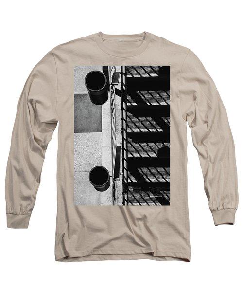 Industrial Motif Long Sleeve T-Shirt