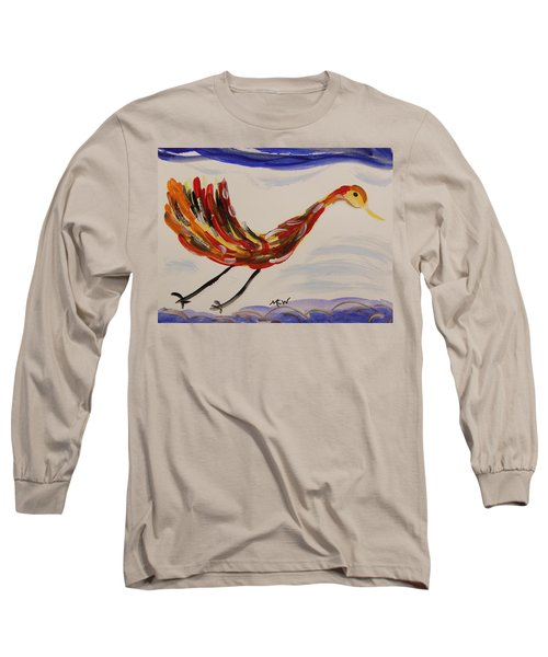 Inspired By Calder's Only Only Bird Long Sleeve T-Shirt by Mary Carol Williams