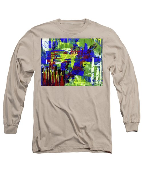 Long Sleeve T-Shirt featuring the painting Intensity II by Cathy Beharriell
