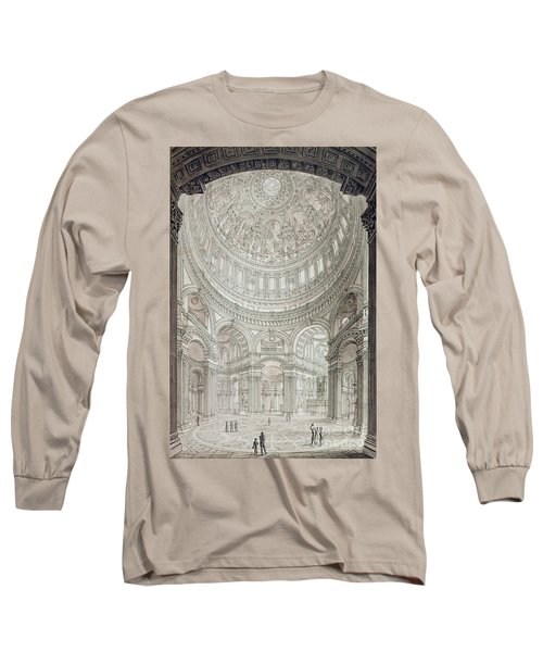 Interior Of Saint Pauls Cathedral Long Sleeve T-Shirt