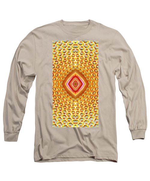 Long Sleeve T-Shirt featuring the digital art Into The Centre - Vertical by Wendy Wilton