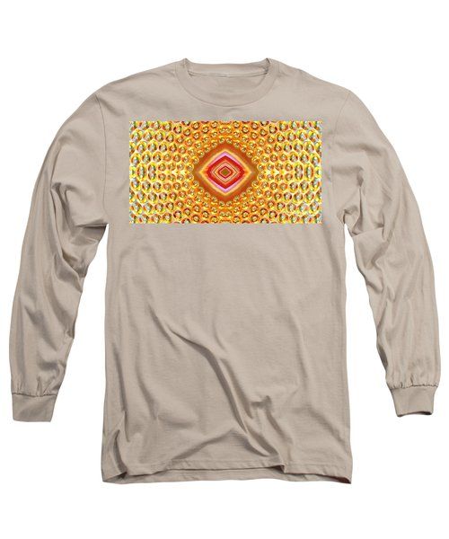 Long Sleeve T-Shirt featuring the digital art Into The Centre - Horizontal by Wendy Wilton