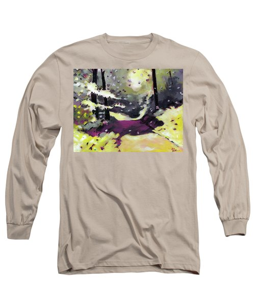 Long Sleeve T-Shirt featuring the painting Into The Woods 2 by Anil Nene