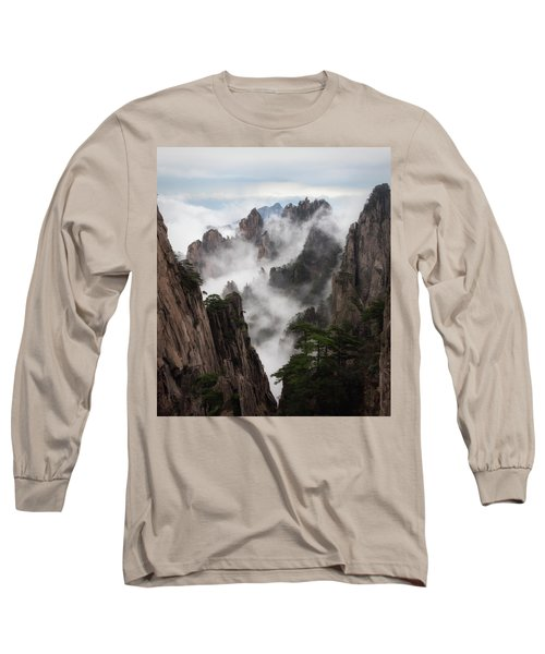 Invisible Hands Painting The Mountains. Long Sleeve T-Shirt