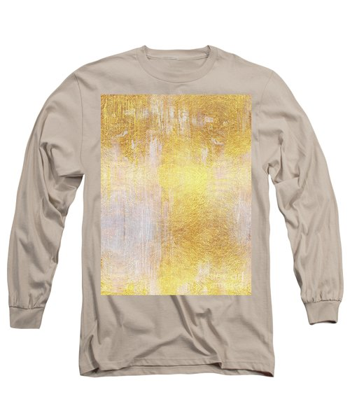 Iridescent Abstract Non Objective Golden Painting Long Sleeve T-Shirt
