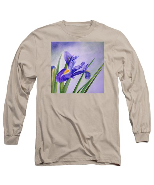 Long Sleeve T-Shirt featuring the painting Iris by Allison Ashton