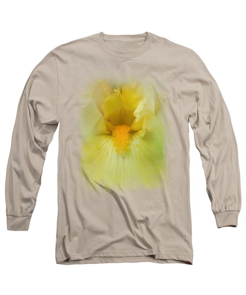 Iris In Lime Long Sleeve T-Shirt by Jai Johnson