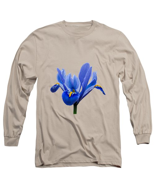 Iris Recticulata Transparent Background Long Sleeve T-Shirt by Paul Gulliver