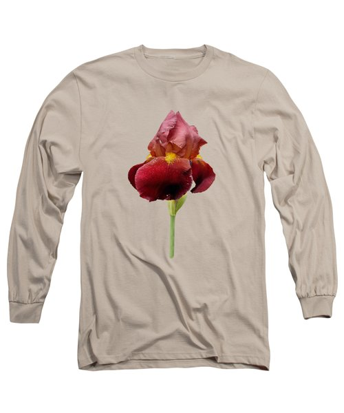 Iris Vitafire Transparent Background Long Sleeve T-Shirt by Paul Gulliver