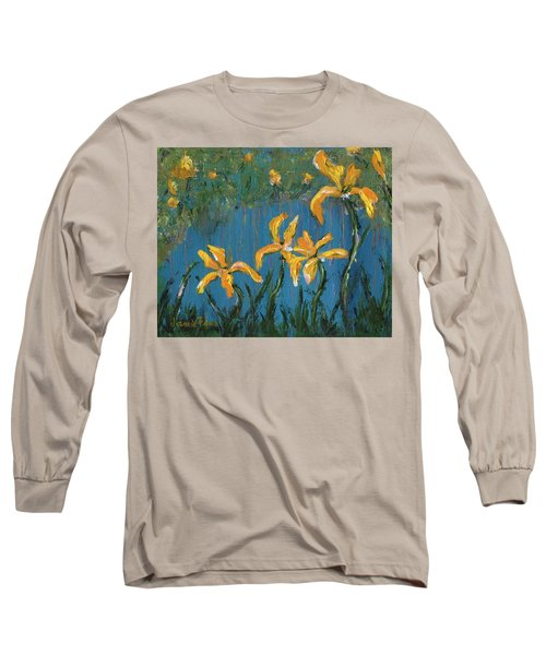 Long Sleeve T-Shirt featuring the painting Irises by Jamie Frier