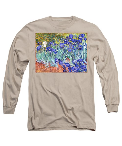 Long Sleeve T-Shirt featuring the painting Irises by Van Gogh