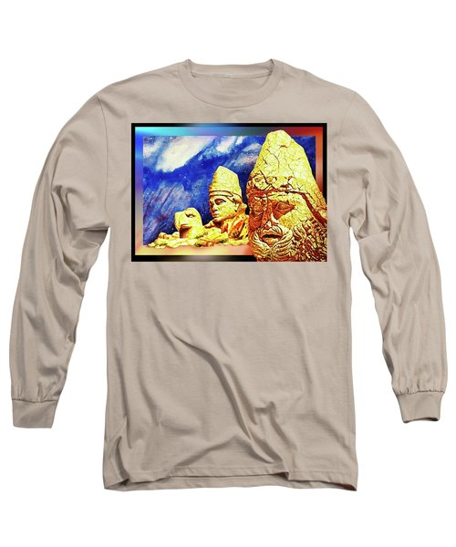 Long Sleeve T-Shirt featuring the painting Irreplaceable   Ancient  Glory by Hartmut Jager