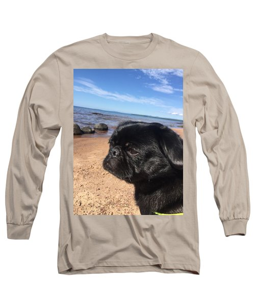 Long Sleeve T-Shirt featuring the photograph Is This My Good Side? by Paula Brown
