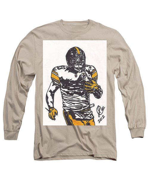 Long Sleeve T-Shirt featuring the drawing Isaac Redman by Jeremiah Colley