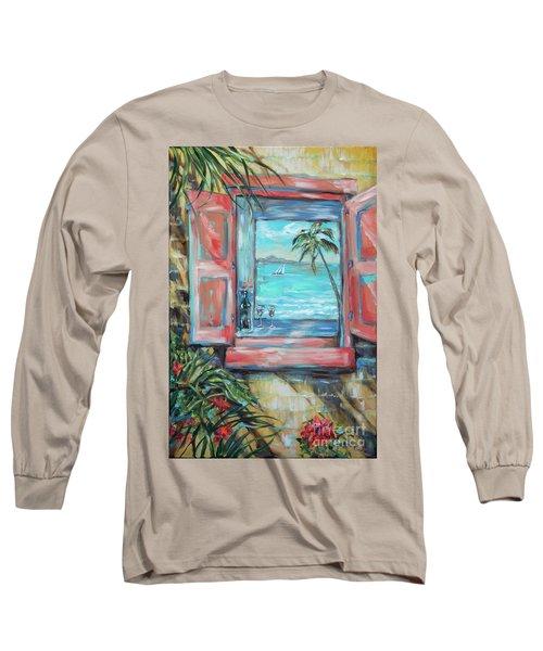 Island Bar Coral Long Sleeve T-Shirt