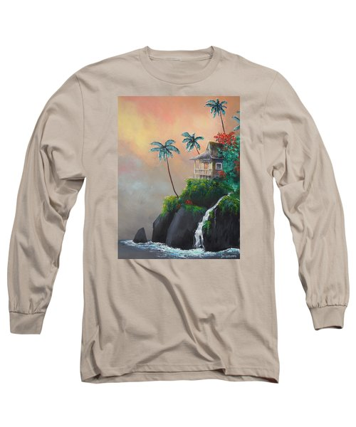 Long Sleeve T-Shirt featuring the painting Island Getaway by Dan Whittemore