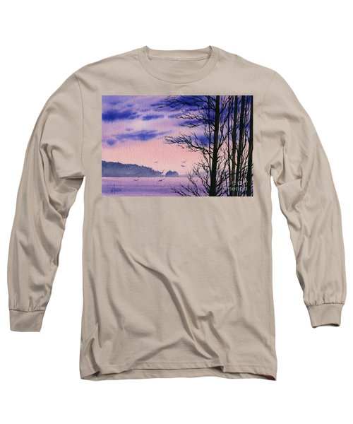 Long Sleeve T-Shirt featuring the painting Island Point by James Williamson