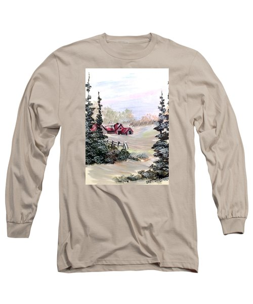 Long Sleeve T-Shirt featuring the painting It Is Winter - 3 by Dorothy Maier