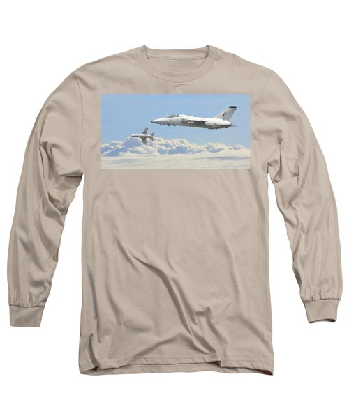 Long Sleeve T-Shirt featuring the digital art Italian Air Force - Ghibli by Pat Speirs