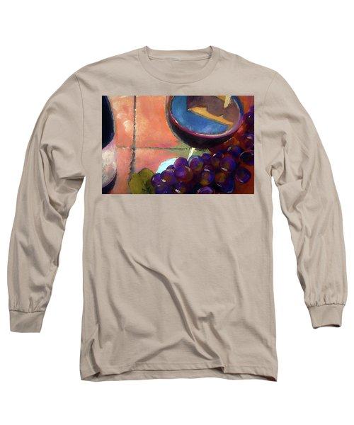 Italian Tile And Fine Wine Long Sleeve T-Shirt