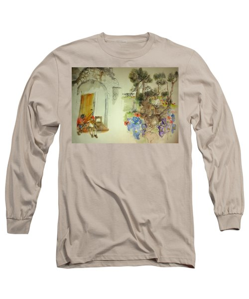 Italy Love Life And Linguini Albu, Long Sleeve T-Shirt