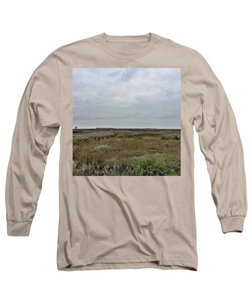 It's A Grey Day In North Norfolk Today Long Sleeve T-Shirt by John Edwards