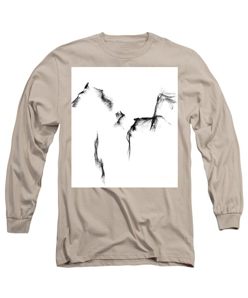 Long Sleeve T-Shirt featuring the painting Its Just A Little Sketch by Frances Marino