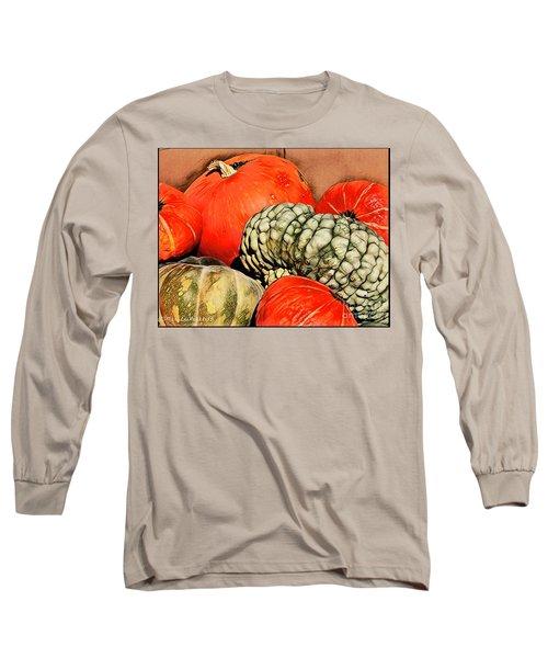 It's Pumpkin  Season Long Sleeve T-Shirt by MaryLee Parker