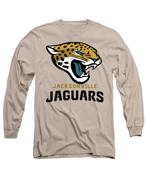 Jacksonville Jaguars On An Abraded Steel Texture Long Sleeve T-Shirt