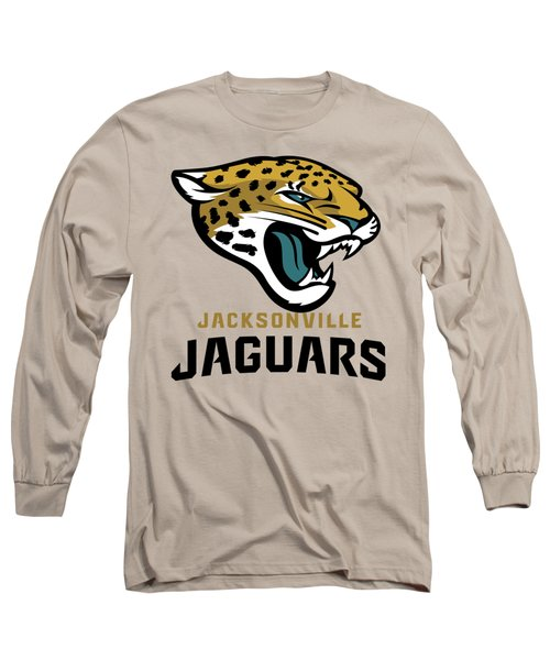 Jacksonville Jaguars On An Abraded Steel Texture Long Sleeve T-Shirt