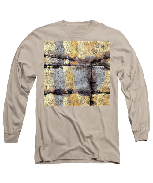 Jagged Lavendar Long Sleeve T-Shirt by Maria Huntley
