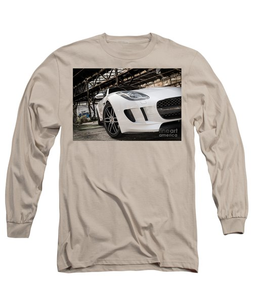 Jaguar F-type - White - Front Close-up Long Sleeve T-Shirt