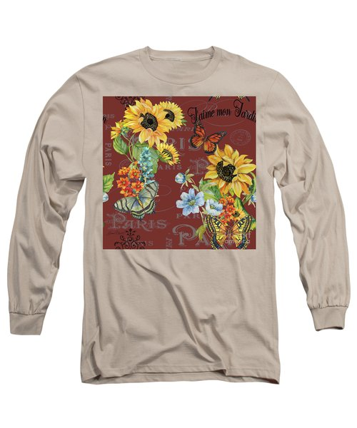 Long Sleeve T-Shirt featuring the painting Jaime Mon Jardin-jp3988 by Jean Plout