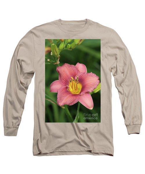 Jamaica Sunrise Daylily Long Sleeve T-Shirt
