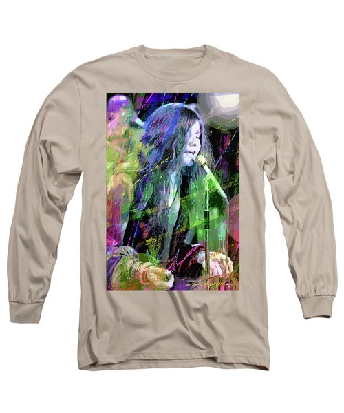 Janis Joplin Blue Long Sleeve T-Shirt