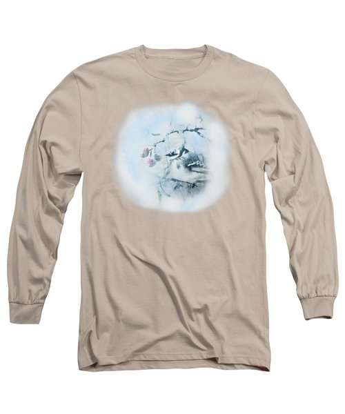 January Bluejay  Long Sleeve T-Shirt by Susan Capuano