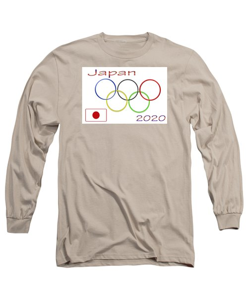 Japan Olympics 2020 Logo 3 Of 3 Long Sleeve T-Shirt by Tina M Wenger