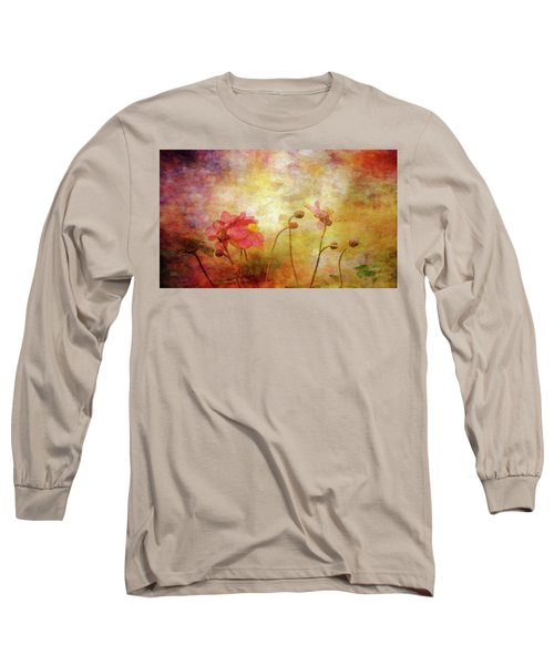 Japanese Anemone Landscape 3959 Idp_2 Long Sleeve T-Shirt