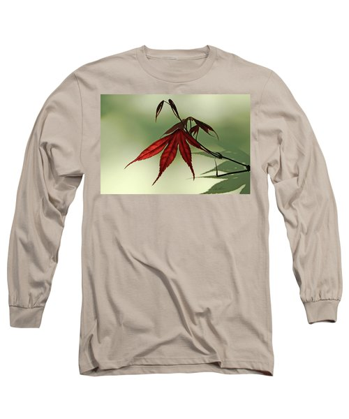 Long Sleeve T-Shirt featuring the photograph Japanese Maple Leaf by Ann Lauwers