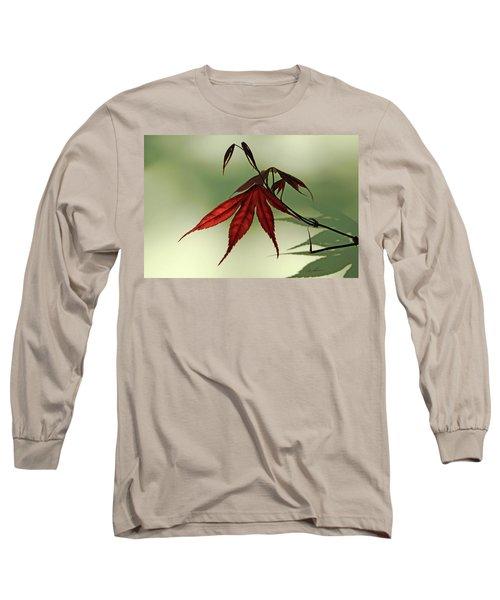 Japanese Maple Leaf Long Sleeve T-Shirt
