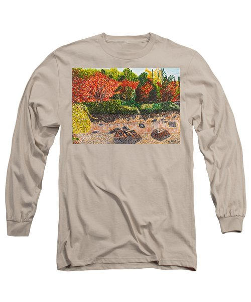 Japanese Maple Trees At The Creek Long Sleeve T-Shirt by Valerie Ornstein