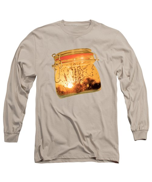 Jar Full Of Sunshine Long Sleeve T-Shirt by Linda Lees