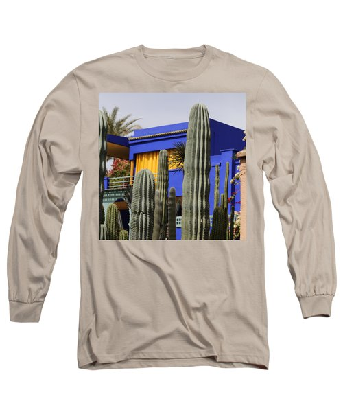 Long Sleeve T-Shirt featuring the photograph Jardin Majorelle 5 by Andrew Fare