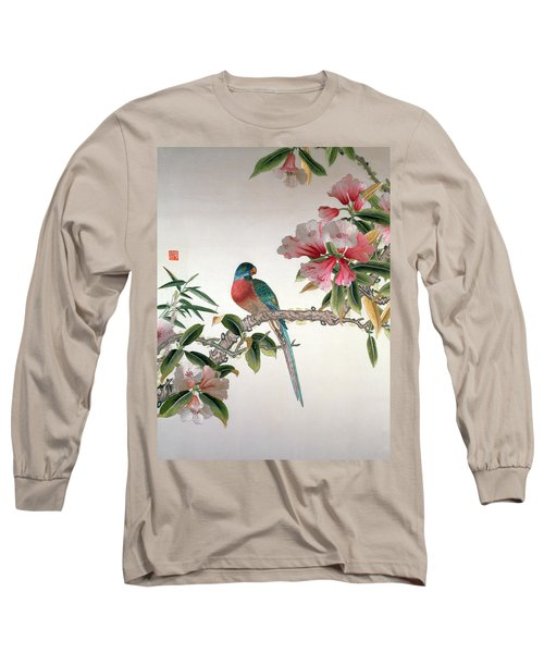 Jay On A Flowering Branch Long Sleeve T-Shirt by Chinese School