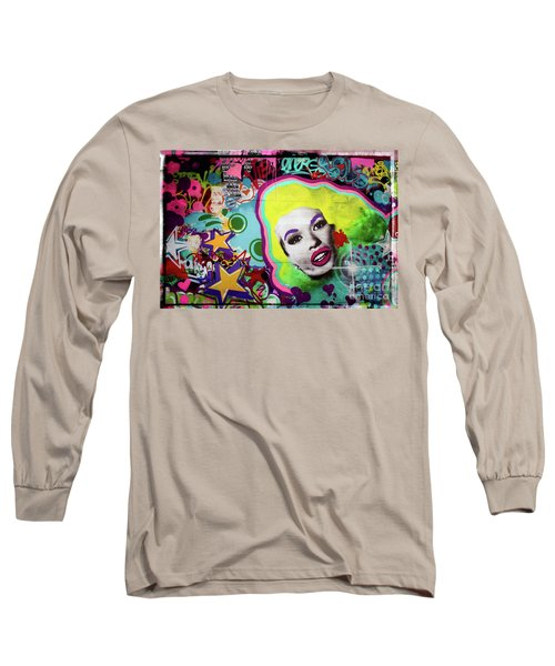 Long Sleeve T-Shirt featuring the photograph Jayne Mansfield - Pop Art by Colleen Kammerer