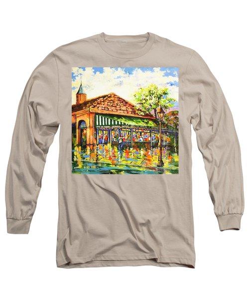 Jazz At Cafe Du Monde Long Sleeve T-Shirt